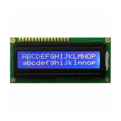 16X2 1602A LCD Display Powered on