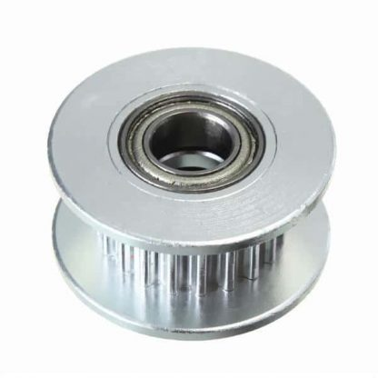 Aluminum GT2 20 Teeth 5mm Bore - 6mm Width Perlin Passive Idler Pulley Close