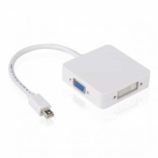 3 in1 Thunderbolt Mini Displayport DP to HDMI DVI VGA Adapter Display Port Cable For Apple MacBook