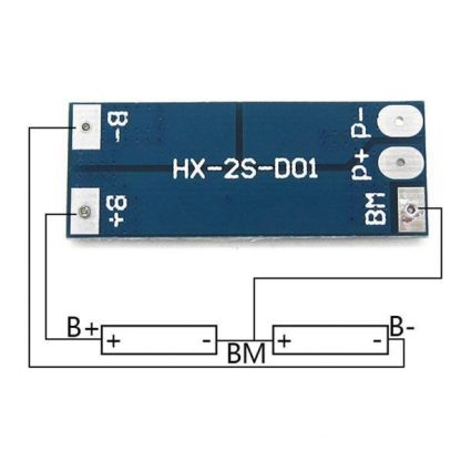 Charger Protection Board for Pack of 2x18650 Li-ion Lithium Battery Cell 8A Connection