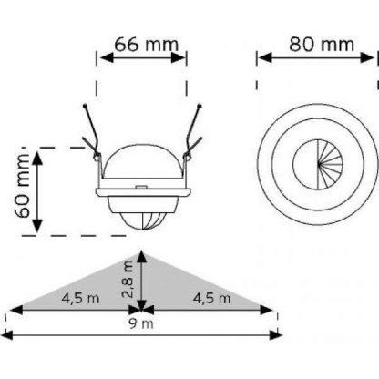 Spot Type Motion Sensor measures