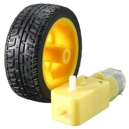 موتور تيار مستمر بصندوق تروس + عجلة