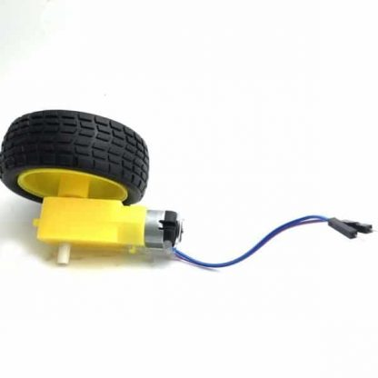 DC Motor with Straight Shaft Gearbox + Wheel