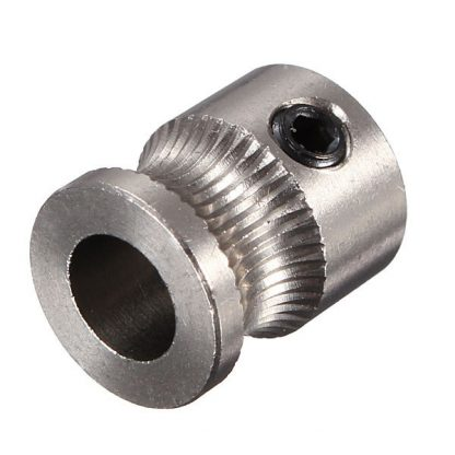 3D Printer MK7 Stainless Steel Extrusion Gear for 1.75mm Filament Front