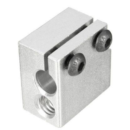 Aluminium Heat Block for E3D V6 J-head 3D Printer Extruder Close up