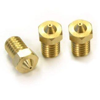 3D Printer E3D V5/V6 M6 Brass Nozzle