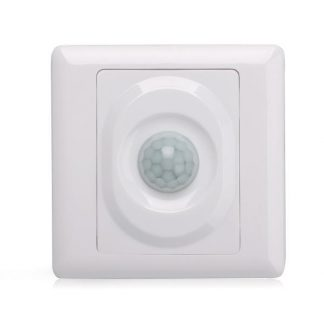 180° Wall Type Flush Mount Motion Sensor 8m Range Front