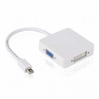 3 in1 Thunderbolt Mini Displayport DP to HDMI DVI VGA Adapter Display Port Cable For Apple MacBook