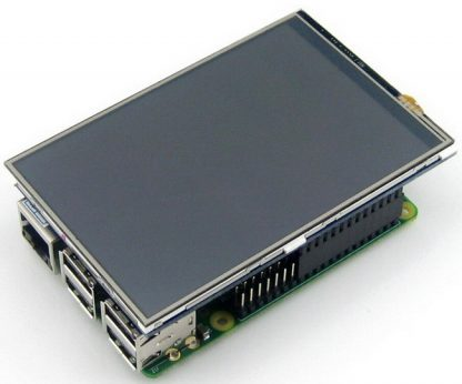 5 Inches HDMI Resistive Touch LCD for Raspberry Pi Installed