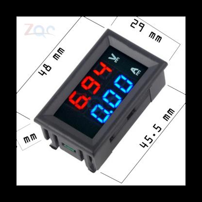 لوحة فولتميتر مصغرة 100 فولت - 10 أمبير تيار مستمر