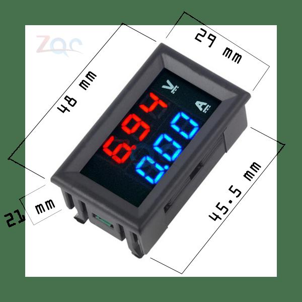 Digital Panel Voltmeter : Digital voltmeter ammeter panel
