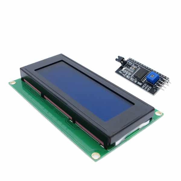 Lcd display with i c
